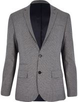 River Island Grey Dogtooth Slim Suit Jacket