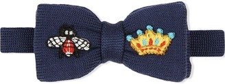 Gucci Kids Embroidered Bow Tie