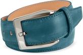 Pakerson Men's Petrol Blue Hand Painted Italian Leather Belt