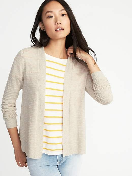 Old Navy Womens Textured Open-Front Cropped Sweater
