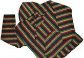 Molina Mexican Baja Hoodie RASTA Pullover Drug Rug Poncho Sweater