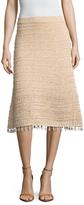Derek Lam Cotton Tassel Trim A Line Skirt