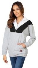 Lids Ug Apparel Ohio State Buckeyes Women's Colorblock Quarter-Zip Pullover