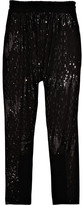 Sequin-embellished knitted pants