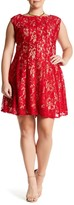 Taylor Lace Fit & Flare Dress (Plus Size)