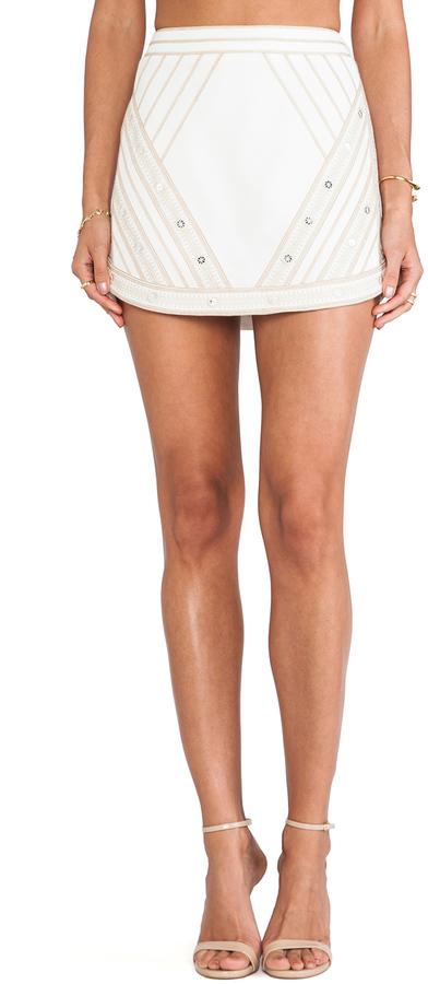 BCBGMAXAZRIA Printed Mini Skirt