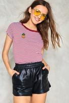 Nasty Gal nastygal Sweet On the Inside Pineapple Ringer Tee