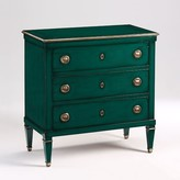The Well Appointed House Green Lacquer Three Drawer Wood Chest