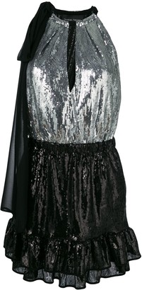 Christian Pellizzari Two-Tone Sequinned Dress