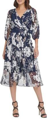 DKNY Floral-Print Fit--Flare Dress