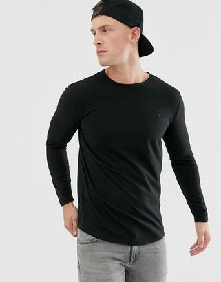 Soul Star long sleeve top in black