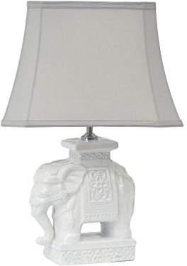 Artisanti Porcelain Decorated Elephant Lamp