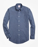 Brooks Brothers Non-Iron Madison Fit Heathered Gingham Sport Shirt