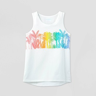 Cat & Jack Girls' Palm Trees Graphic Tank Top - Cat & JackTM