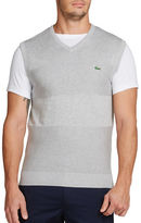 Lacoste Golf Cotton Textured Sweater Vest