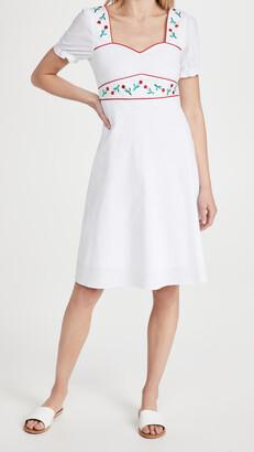 HVN Zoey Sweetheart Midi Dress