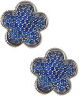 Lagos 18mm Sapphire Flower Stud Earrings