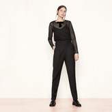 Maje Wide trousers with zip detailing