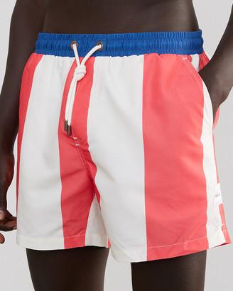 Skwosh - Men's White Boardshorts - Sailor Stripe - Size One Size, S at The Iconic