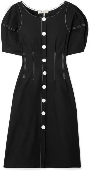 Sea Kamille Stretch-cotton Midi Dress - Black