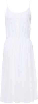 American Vintage Sisibay Gathered Cotton-poplin Midi Dress