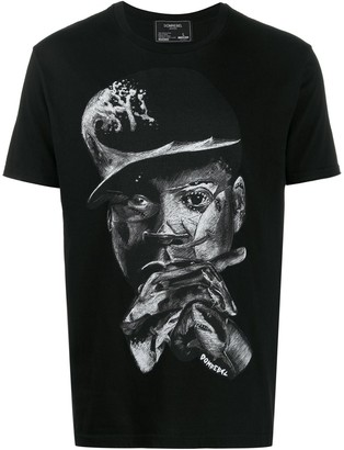 Dom Rebel illustrated T-shirt