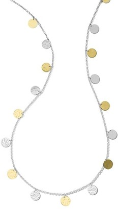 Ippolita Classico Chimera Two-Tone Hammered Paillette Long Necklace