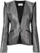 Thierry Mugler metallic fitted blazer
