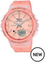 Baby-G Casio Baby G Casio Baby G Step Tracker Coral Resin Strap Ladies Watch