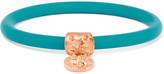 Marc by Marc Jacobs Rubber rose gold-tone bangle