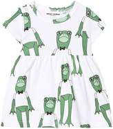 Mini Rodini Frog Print Dress In Green