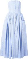 Natasha Zinko pleated trim dress - women - Cotton/Polyester - 40