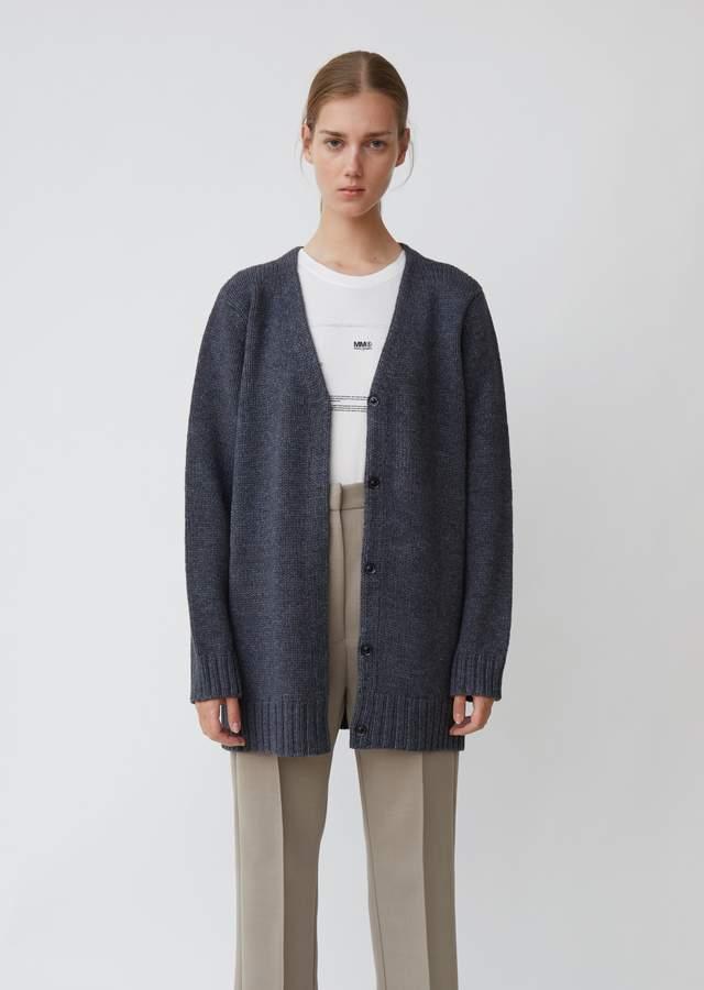 MM6 MAISON MARGIELA Long Sleeve Knit Cardigan