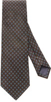 Eton Brown Geometric Print Tie