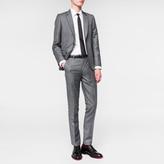Paul Smith Men's Tailored-Fit Grey Crosshatch Wool Suit