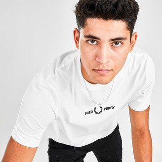 Fred Perry Men's Small Logo Graphic T-Shirt