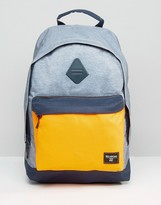 Billabong All Day Backpack In Charcoal And Orange