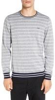 Lacoste Stripe Crewneck Sweatshirt