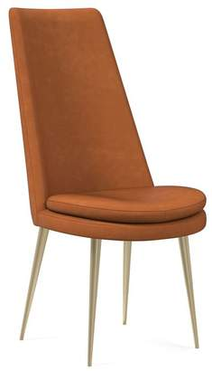 west elm Finley High Back Leather Dining Chair