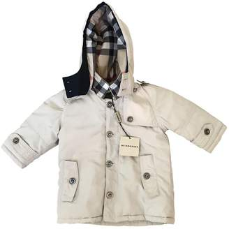 Burberry Beige Synthetic Jackets & Coats