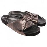 Isabel Marant Boop Metallic Leather Sandals
