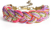 Stephan & Co. Braided Cord & Chain Bracelet