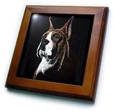 3dRose LLC ft_1059_1 Dogs Boxer - Boxer - Framed Tiles