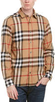 Burberry Salwick Check Cotton Flannel Shirt