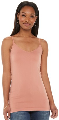 Apt. 9 Women's Essential Reversible Neckline Seamless Layering Camisole