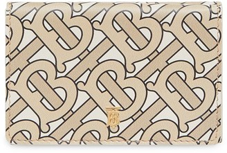 Burberry Small Monogram Print Leather Folding Wallet