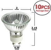 Platinum Et Pro 10Pcs 50 Watts Mr16 Gu10 Base Exn Flood Halogen Light Bulb With Lens Cover 120 Volts Long Life