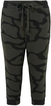 Twenty Montreal Cropped Cotton-blend Camouflage-jacquard Track Pants