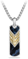 David Yurman Pietersite Chevron Tag with Gold