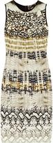 Giambattista Valli Animal-print knitted dress
